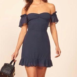 REFORMATION Hyacinth Blue Dress NWT 0